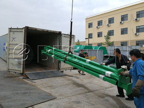 Delivery of waste sorter