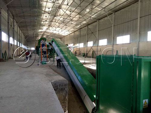 Installation of sorting equipment