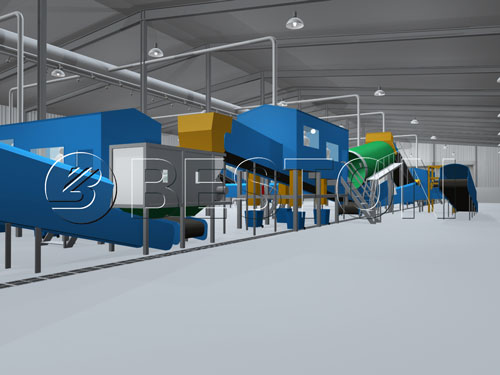Household waste sorting plant for sale
